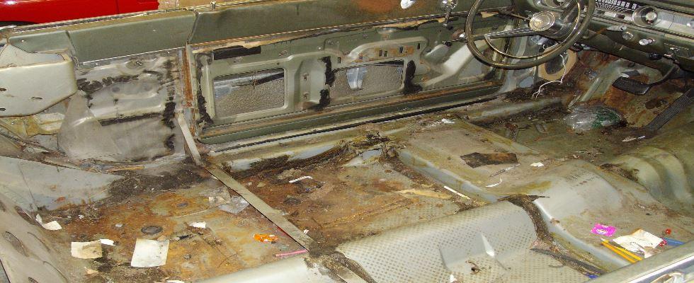 Ford Falcon Interior Before